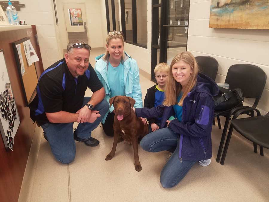 Chestnut was adopted